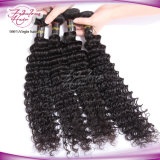 Cabelo Mongolian profundo barato de Remy do cabelo humano do Virgin da onda 7A