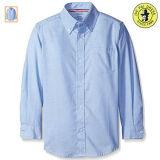 Рубашка длинних мальчиков летней школы втулки равномерная белая