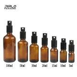 Botella del aerosol del cristal de botellas de Galss del petróleo esencial del ámbar