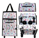 Sacchetto del carrello di acquisto con il carrello pieghevole portatile del sacchetto di acquisto delle rotelle