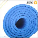Couvre-tapis bleu antidérapage à haute densité de yoga des frais supplémentaires 15mm NBR