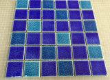 Mattonelle di mosaico di ceramica della piscina della crepa blu Mixed del ghiaccio
