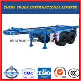aanhangwagen van de Vrachtwagen van de Container 3axles/2axles 60ton de Semi met Skeletachtig Type