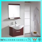 Gabinete sanitário moderno fixado na parede da vaidade do banheiro dos mercadorias do PVC