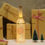 Linternas de interior ligeras estrelladas de hadas de la decoración del patio de la botella de la luz de las estrellas del LED para el jardín de la yarda de la celebración de días festivos