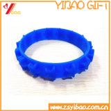 bracelet fait sur commande de Wrisband de silicones de la personnalité 3D gravé en relief par logo (YB-HR-99)