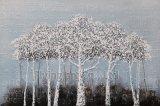 印象主義の木のためのアルミニウム基礎アクリルの再生の油絵