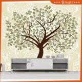 Grün lässt schwarzen Baum-vektorbild-Tapeten-Farbanstrich für Hauptdekoration
