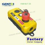 Industrial 3 Holes Waterproof Crane / Hoist T-2 avec interrupteur à bouton-poussoir
