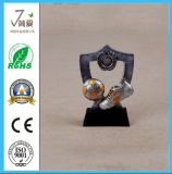 Polyresin Awards Trophy Cup Figurine, metal Award Décoration Trophée