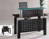 Forniture di ufficio moderne superiori di vetro della scrivania di ricezione (HX-GL212)