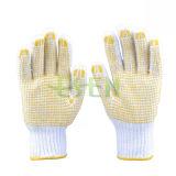 Пвх пунктирной рабочей рукавицы/хлопка с другой стороны Hosiery перчатки