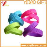 Pulseira de silicone colorida personalizada para design de silhueta (YB-AB-009)