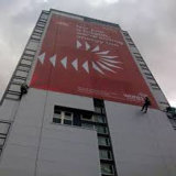 Drapeau chaud de barrière de construction de drapeau de maille de vinyle de vente