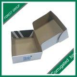 Casella ondulata della scatola della parte superiore di stile su ordinazione di immagine doppia dovuta al tergitamburo