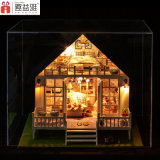 Интеллектуальная дом куклы игрушки DIY деревянная миниатюрная