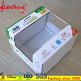 Caja de cartón corrugado fuerte caja de embalaje con ventana transparente