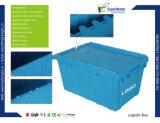 Conteneur empilable logistique en plastique de rotation