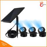 Portátil resistente al agua IP68 de la luz solar al aire libre Jardín de luz solar Luz subacuática