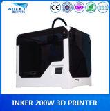 impressora plástica Desktop de construção do modelo 3D de 0.1mm Precison 200X200X300mm