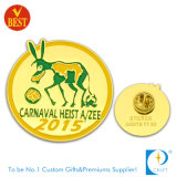 Distintivo di Pin dell'oro del metallo/Pin del risvolto Sandblasted ricordo su ordinazione