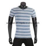 Maglietta alla moda della tintura del filato per gli uomini
