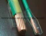 Câble à fils multiples à un noyau de Thw isolé par PVC