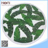 Le foglie di palma su ordinazione all'ingrosso hanno stampato i tovaglioli 100% di spiaggia rotondi del cotone