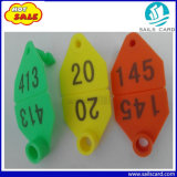 65X43mm kundenspezifische Zahl-Tierohr-Marke für Schaf-Kennzeichen