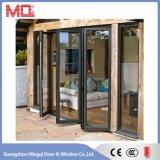 Алюминиевая рама складные двери алюминиевые двойные стекла задней двери