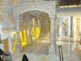 Tegels van de Plakken van de luxe de Zilveren Grijze Marmeren voor Vloer/Muur/de Decoratie van Treden