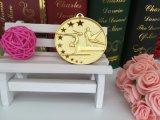 Medalha ginástica chapeada ouro da competição da cavidade da liga do zinco
