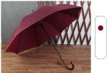 Staaf van houten Buigende van de van de Bedrijfs paraplu van het Handvat van de Haak Super Lange Automatische Paraplu van de Rel Mensen de Rechte Anti