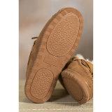 Los hombres de cuero Sheepskin Moccasin zapatillas