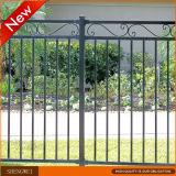 正方形の鋼鉄管の道または庭の錬鉄の囲うこと