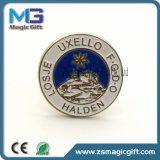 Divisa modificada para requisitos particulares metal estampada promocional del Pin del esmalte de la venta entera