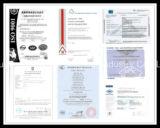 Certificado de cobre do UL do plugue do cabo de extensão do estilo 3pins dos EUA