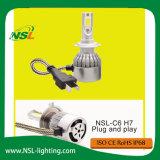 Phare de véhicule des ampoules H7 30W 12V 24V 3000lm DEL Bulds de phare de DEL