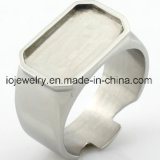 Piezas de acero inoxidable en blanco bricolaje anillo de joyería de base