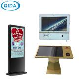Écran DEL d'intérieur de kiosque de vente d'intense luminosité de moniteur de stand d'étage annonçant l'écran LCD