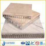 panneau en aluminium de nid d'abeilles de pierre de marbre de blanc de 20mm
