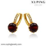 23118 발렌타인 데이 동안 최신 판매 보석 다이아몬드 24k 금 귀걸이 Huggie
