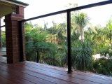 Rete fissa di vetro di alluminio nera del balcone per la decorazione domestica