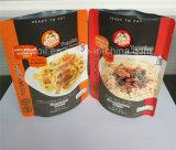 Verpacken- der LebensmittelFastfood- Beutel mit silbernem Lech-rückseitigem und glattem Fenster