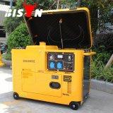 비손 (중국) 4.2kw 4.2kVA 구리 철사 단일 위상 중국 제조자에서 휴대용 디젤 엔진 발전기 Silented 성과