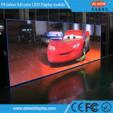 Afficheur LED de location d'intérieur polychrome de RVB P4 pour l'étape