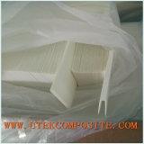 Separador de penas de fibra de vidro com separador de tipo dobrado
