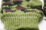 Перчатки связанные камуфлированием Thinsulate перста армии акриловым половинным прованским