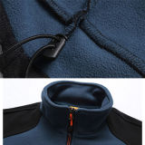 Moda manga comprida 100% poliéster bordado casual casual inverno jaqueta de homens
