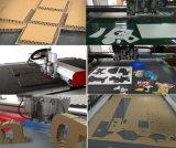 Macchina d'oscillazione del tracciatore di taglio della lama di CNC per la scheda, contenitore di scatola, stuoia del piede